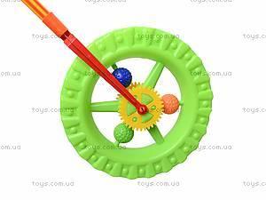 Детская каталка-колесо на палке, 019, игрушки