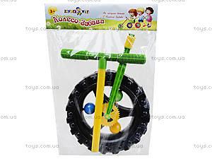 Детская каталка-колесо с ручкой, 06-605, детские игрушки