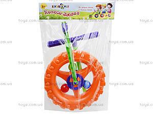 Детская каталка-колесо с ручкой, 06-605, магазин игрушек