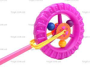 Каталка-колесо на палке, PF059C, цена
