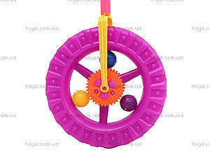 Каталка-колесо на палке, PF059C, детские игрушки