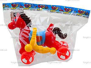 Лошадка-каталка с палкой, 303-1, фото
