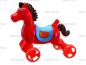 Лошадка-каталка с палкой, 303-1, игрушки
