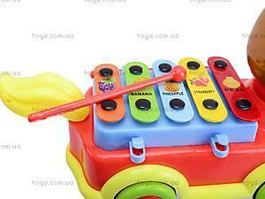 Каталка-ксилофон «Лошадка», FL098017W1/2, детские игрушки