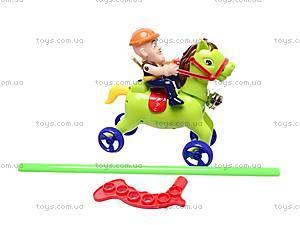 Каталка-лошадка на палке, 298-F15, фото