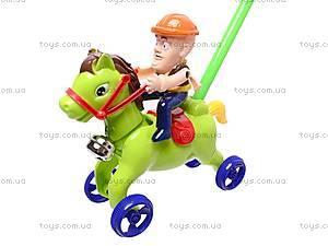Каталка-лошадка на палке, 298-F15, игрушки