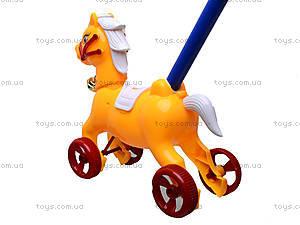 Каталка-лошадка с палкой, 850-20, купить