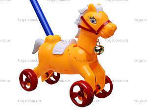 Каталка-лошадка с палкой, 850-20, игрушки
