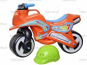 Детская каталка мотоцикл с каской, 11-007, цена