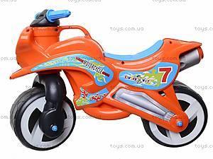 Детская каталка мотоцикл с каской, 11-007, игрушки