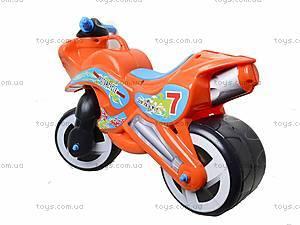 Детская каталка мотоцикл с каской, 11-007, детские игрушки