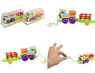 Детская каталка - паровоз на веревке, 222-6, купить