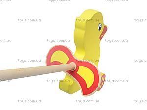 Каталка с ручкой «Утенок», 8063-11, детские игрушки