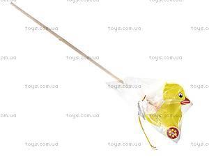 Каталка с ручкой «Утенок», 8063-11, магазин игрушек