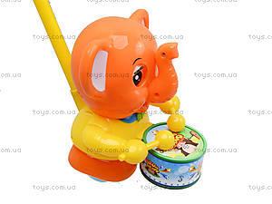 Каталка на палочке «Слон с барабаном», 1268 (1123B), купить
