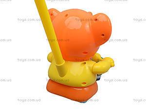 Каталка на палочке «Слон с барабаном», 1268 (1123B), фото