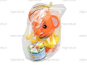 Каталка на палочке «Слон с барабаном», 1268 (1123B), детские игрушки