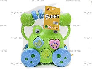 Детская каталка-сортер «Жабка», 5838, игрушки