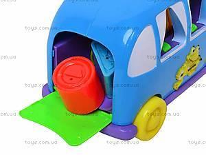Каталка-сортер «Волшебный автобус», 1340E, детские игрушки