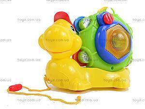 Каталка «Улитка с барабаном», WD3649, игрушки