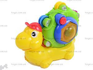 Каталка «Улитка с барабаном», WD3649, детские игрушки