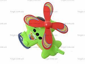 Детская игрушка-каталка на палочке, вертолет, 1803-16, игрушки