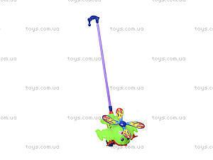 Игрушка каталка - вертолет на палке, 928-3, купить
