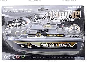 Детский катер на батарейках Military Boats, 0679B, отзывы