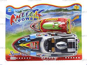 Игрушечный катер на батарейках Race Boat, 131-6B, фото