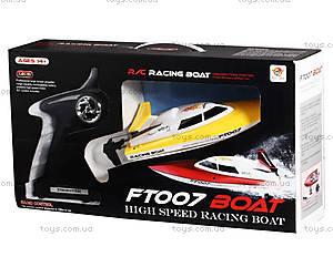 Катер на радиоуправлении Racing Boat FT007, желтый, FL-FT007y, купить