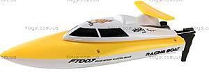 Катер на радиоуправлении Racing Boat FT007, желтый, FL-FT007y