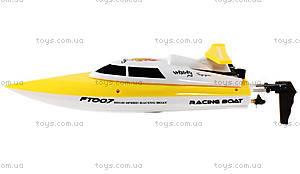Катер на радиоуправлении Racing Boat FT007, желтый, FL-FT007y, игрушки