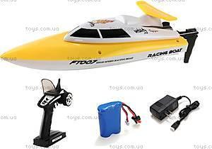 Катер на радиоуправлении Racing Boat FT007, желтый, FL-FT007y, детские игрушки