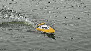Катер на радиоуправлении Racing Boat FT007, желтый, FL-FT007y, магазин игрушек
