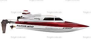 Катер на радиоуправлении Racing Boat FT007, красный, FL-FT007r, детские игрушки