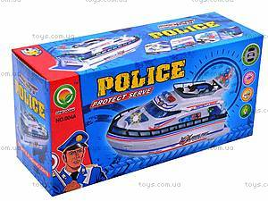 Катер «Police» на батарейках, 004A, купить