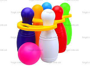 Набор для игры «Кегли» с шаром, 0245, игрушки