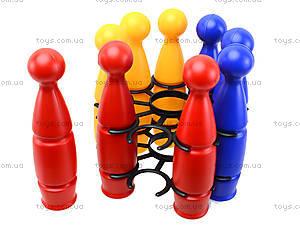 Игрушечные пластмассовые кегли, 1630ср0060701012, фото