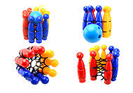 Игрушечные пластмассовые кегли, 1630ср0060701012, купить