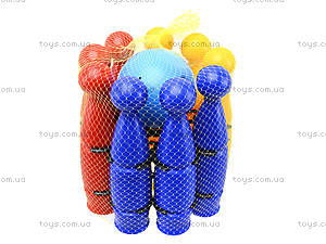 Игрушечные пластмассовые кегли, 1630ср0060701012, цена