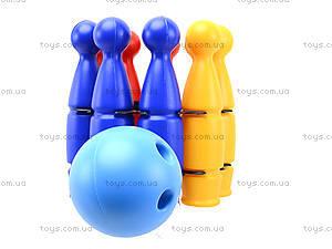 Игрушечные пластмассовые кегли, 1630ср0060701012, игрушки