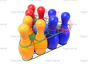 Детский набор кеглей «Радуга», 0732ср0060701012, фото