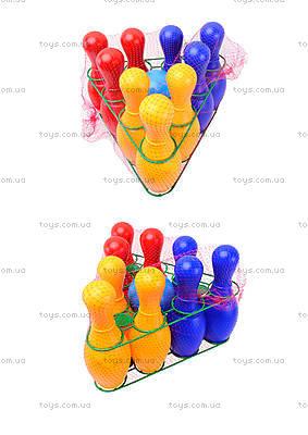 Детский набор кеглей «Радуга», 0732ср0060701012