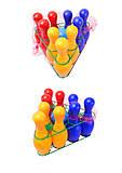 Детский набор кеглей «Радуга», 0732ср0060701012, купить