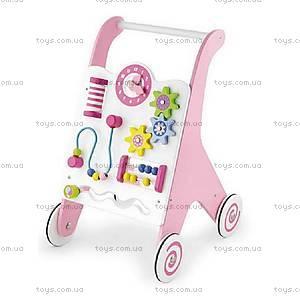 Ходунки-каталка Viga Toys розовые, 50178