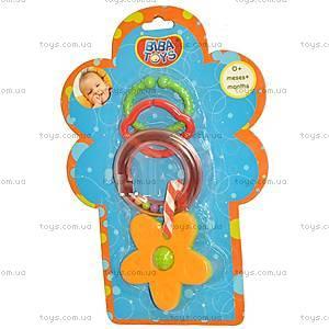 Погремушка-подвеска с грызунком «Цветочки», 096PP