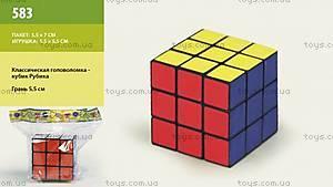 Классическая детская головоломка «Кубик Рубика», 583, купить