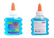 Клей голубой, прозрачный, на PVA-основе, ZB.6111-14, игрушка