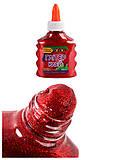 Клей Глиттер красный на PVA-основе  прозрачный 88 мл, ZB.6116-05