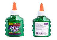 Клей-глитер, зеленый на PVA-основе, прозрачный, ZB.6116-04, toys.com.ua